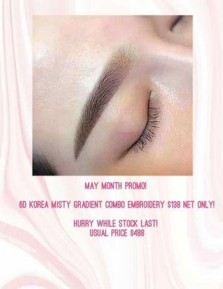 6D Micro Blading with Misty Gradient Combo Embroidery