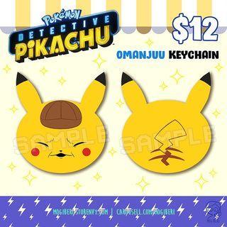 Pokemon Detective Pikachu Omanjuu Keychain