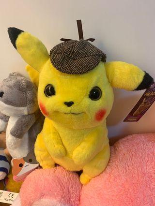 正版名偵採 比卡超 Pikachu 2019電影公仔