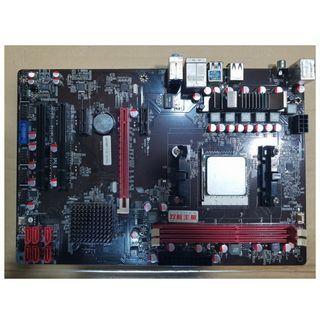 🚚 AMD Athlon II X4 641四核處理器+雙敏UA75AT EVO版(FM1)全固態主機板、整組附擋板與風扇