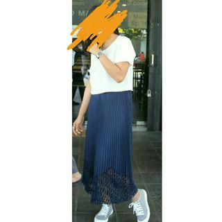 Long skirt blue