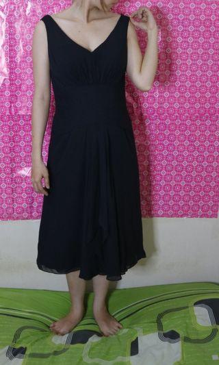 Black shoulder off dress