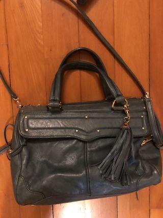 Rebecca minkoff green leather bag