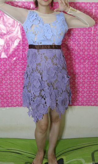 Brukat colourfull dress