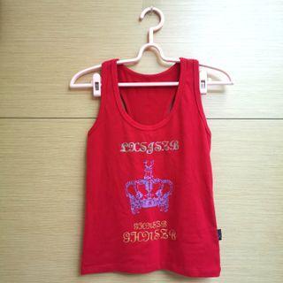 紅色皇冠圖案背心