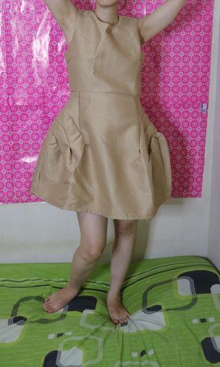 Mini chocholate dress , rok ngembang