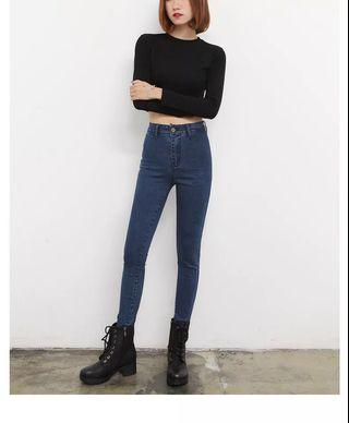 INSTOCK Retro High Waisted Jeans
