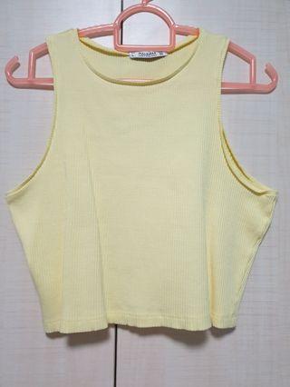 Pull&Bear Yellow Crop Top