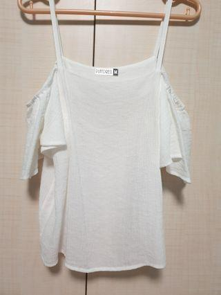 PLAYDRESS White Off Shoulder Top