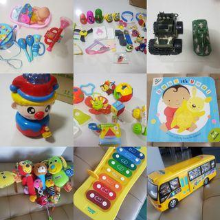 [PRELOVED] [All-In-1 @ $12] Associated Toys for Baby & Kids