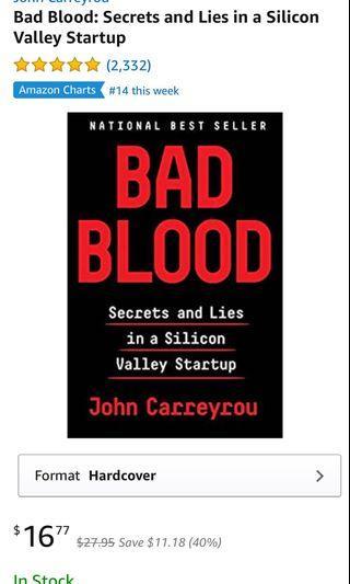 🚚 Bad Blood by John Carreyrou