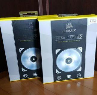 🚚 Corsair ML140 Pro LED, White, 140mm Premium Magnetic Levitation Cooling Fan CO-9050046-WW