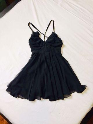 Strappy ruffled dress