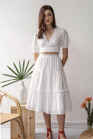 TTR Anna wrap front top & skirt set