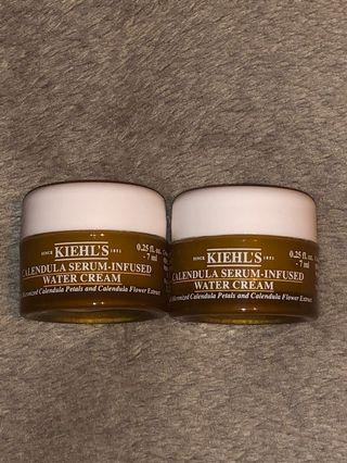 KIEHL'S Calendula Serum-Infused Water Cream 金盞花修復精華面霜 試用裝 兩個 7ml