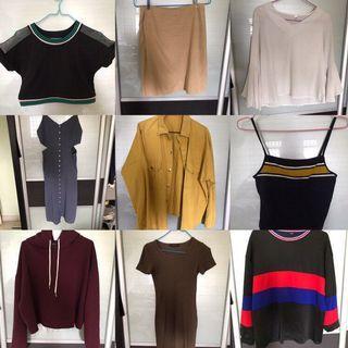 $2 onwards clothes apparel sales clearance cheap ✔️❗️ ulzzang streetstyle formal crop pullover long sleeve hoodie skirt dress bn brand new korean stye teen