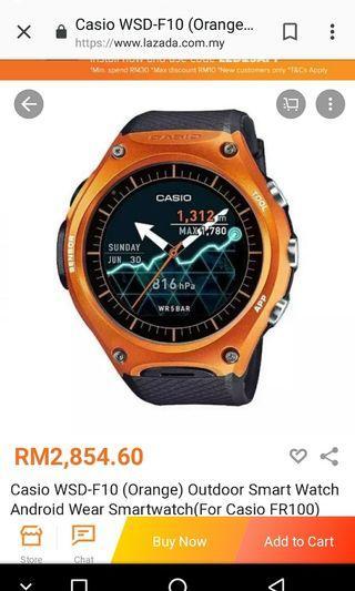 Casio Smartwatch WSD F10