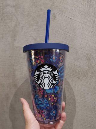 Starbucks limited edition dark blue Vera Bradley cold cup