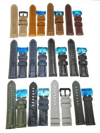 INSTOCK PANERAI 24MM Leather/ Rubber Straps