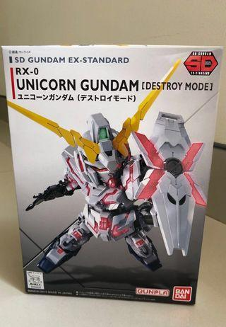 SD gundam ex standard rx 0 unicorn gundam destroy mode