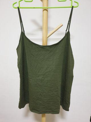 Plus size - Green spaghetti strap top
