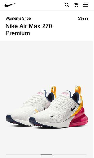 Authentic Nike Air 270 Women