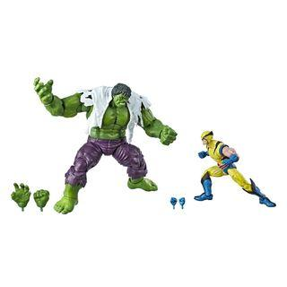 VERY RARE & HOT! *Pre-Order* Hasbro Marvel Legends Series 80th Anniversary Hulk vs Wolverine Action Figures set!