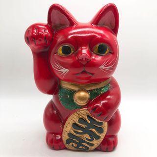 日本紅色 驅除厄運招財貓