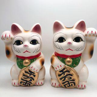 日本令面白色 招財貓