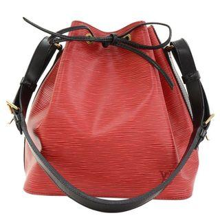 Louis Vuitton Epi Leather Petit Noe RED Black