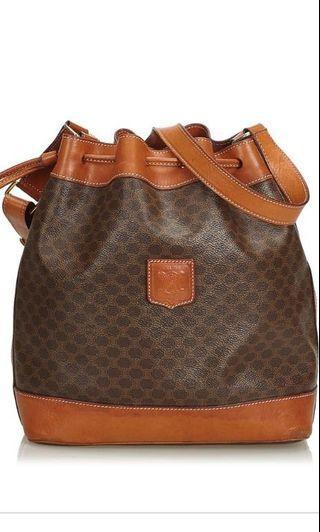 Vintage CELINE Leather Bucket Bag