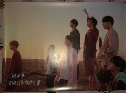 Official Poster Album Love Yourself 'Tear' BTS Y ver.