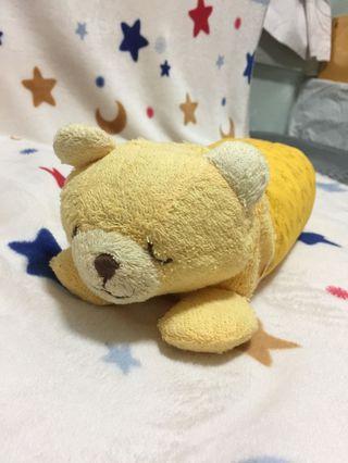 日本 黃色小熊 兒童健康睡枕 蕎麥枕頭 攬枕 Children sleeping pillow (with Buckwheat)
