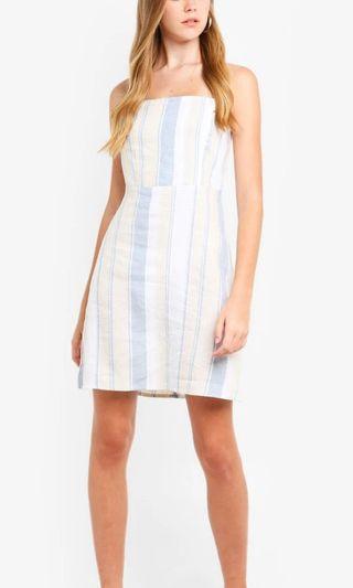 Sweet strapless dress for summer