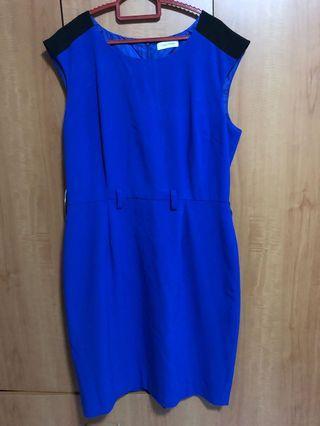 Calvin Klein Royal Blue Office dress