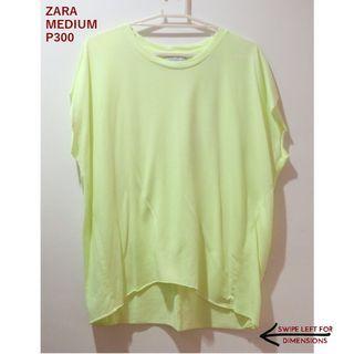 Zara Bright Yellow Shirt