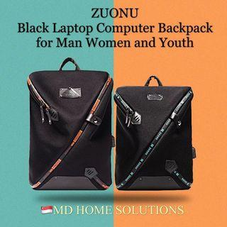 ZUONU Original - Black Laptop Computer Backpack