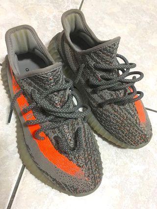🚚 Adidas Yeezy Boost 350 v2 椰子 灰橘色