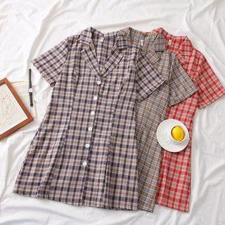 Nary Checkered Shift Dress