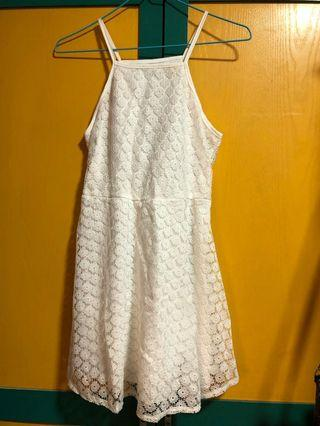 Cute white lace crochet dress