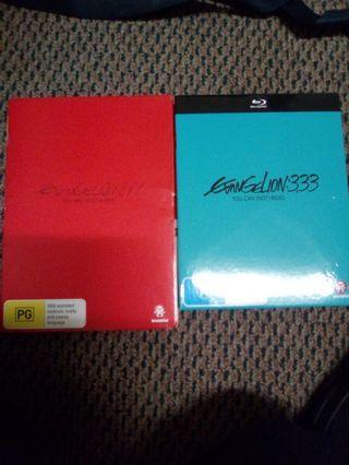 Evangelion 1.11 and Evangelion 3.33 Blu-ray Movie