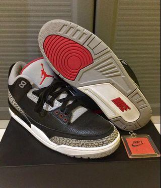 huge selection of f9f9f ecff9 2018 Nike Air Jordan 3 Black Cement size 11