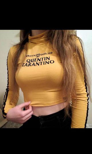 Quentin Tarantino crop turtleneck