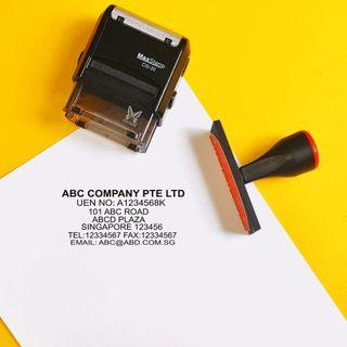 company self-inking stamps