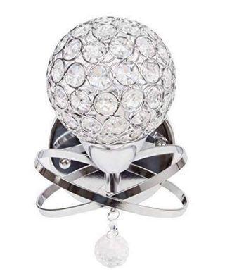 Wall mount crystal lamp