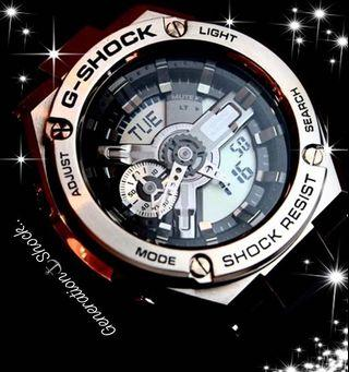 BEST🌟SELLING G-SHOCK G-STEEL DIVER WATCH : 1-YEAR OFFICIAL WARRANTY : 100% ORIGINAL AUTHENTIC G-STEEL G-SHOCK Resistant : Best Gift For Most Rough Users : GST-410-410-1ADR / GST-410-1A / GST410-1 / CASIO / GSHOCK / GSTEEL / WATCH