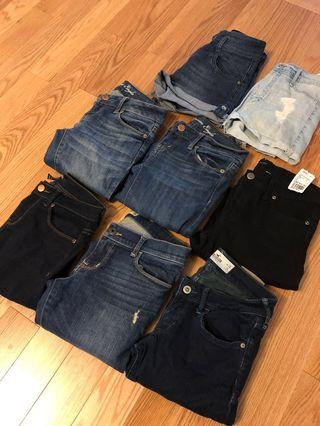 Jeans and Shorts ($5 each)