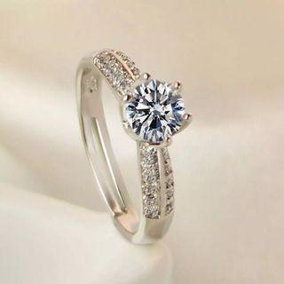 Women engagement Diamond Ring adjustable free size