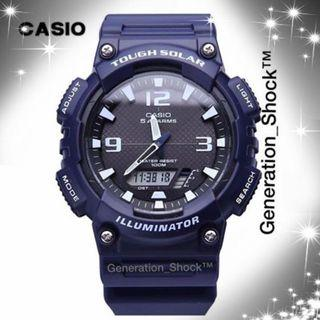 TOUGH☀️SOLAR CASIO SPORTS WATCH : 1-Year Official Warranty : 100% Original AUTHENTIC : Best For Most Rough Users & Unisex : Officially By G-SHOCK COMPANY : AQ-S810W / CASIO / BABYG / GSHOCK / WATCH