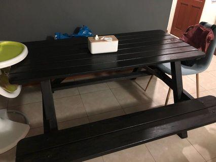 Old school dining table (with bench)